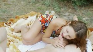 Brunette, Teen, Amateurs, Outdoor, Blowjob